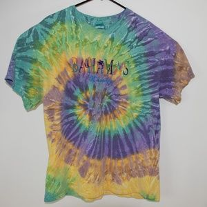 Tie Dye Mens XL Bahamas Nassau Green Yellow Purple
